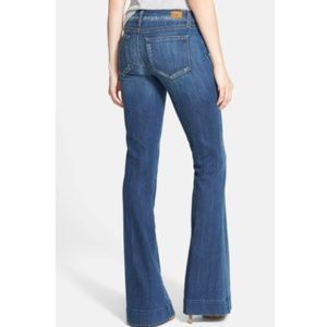 NEW PAIGE 23 Fiona Disco Flare Jeans in Orson Wash
